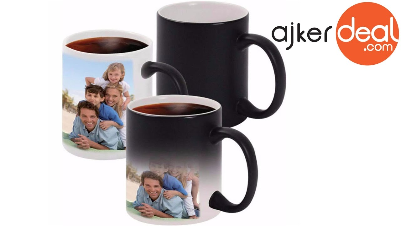 personalized custom photo design magic coffee mug in bangladesh
