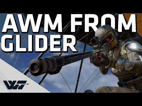 AWM FROM GLIDER - Hitting some insane shots - PUBG