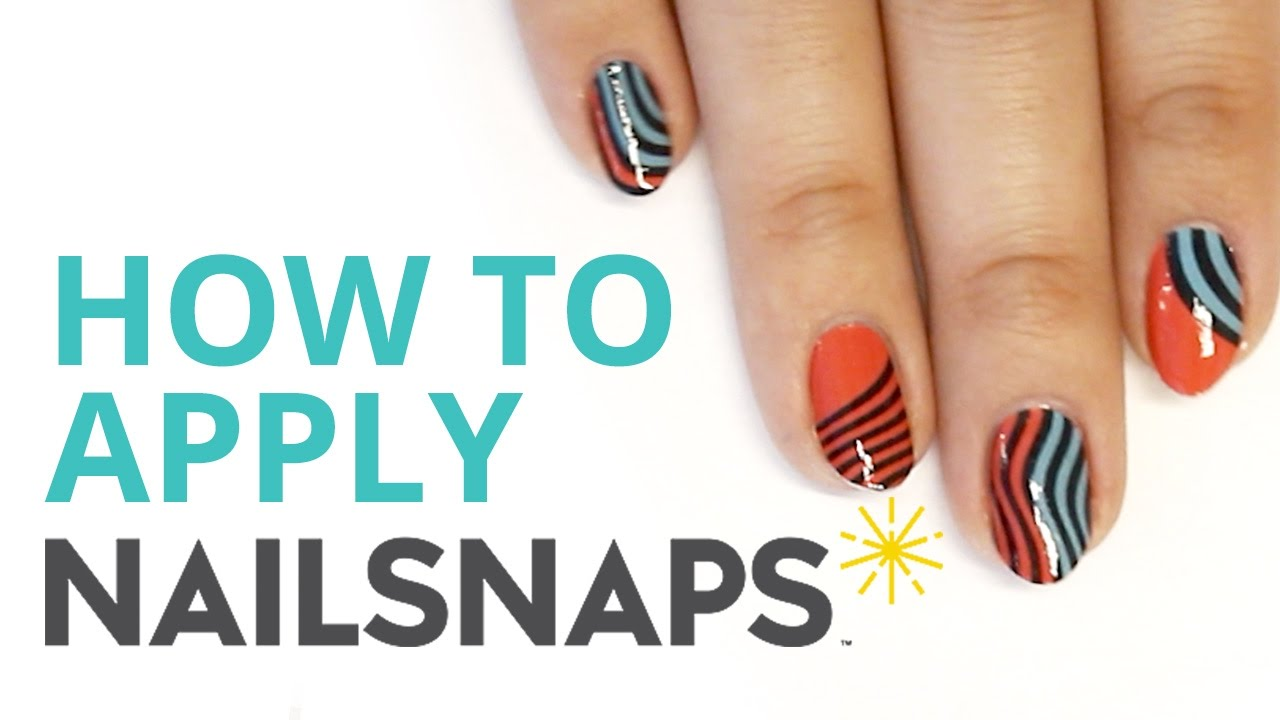 How To Apply NailSnaps\' Salon Quality Nail Wraps - YouTube