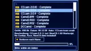 CCCam Setup on Dreambox Blue Panel