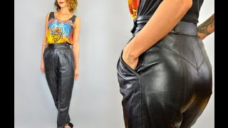 Leather trousers 80's
