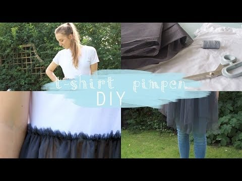 diy wei es t shirt pimpen ideen aus alt mach neu youtube. Black Bedroom Furniture Sets. Home Design Ideas