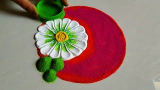 Unique and creative flowers rangoli/freehand kolam muggulu design