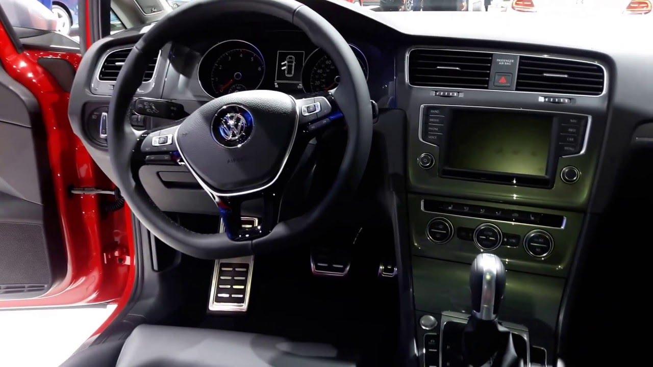 2017 Volkswagen Golf Alltrack Interior Walkaround 2016 New York Auto Show Youtube