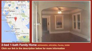 2-bed 1-bath Family Home for Sale in Arcadia, Florida on florida-magic.com