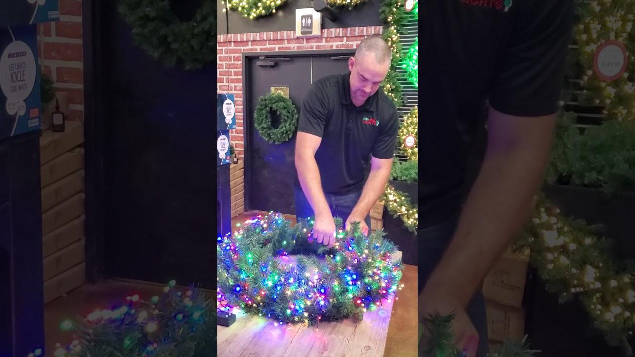 How To Install Cluster Lights On A Wreath  Super Easy