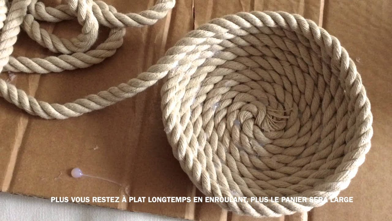 Diy des paniers super facile faire soi m me youtube - Comment decorer une corbeille en osier ...