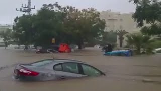 Heavy rains flood Gaza & Israel streets