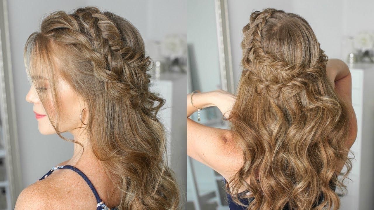 Half Up Dutch Fishtail Twist Braid Missy Sue Youtube