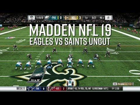 Madden NFL  - Eagles vs Saints Uncut Game