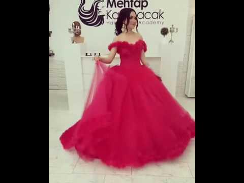 60bbb3329 فستان احمر روعة - YouTube