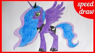 Speed draw Princess Luna, my little pony