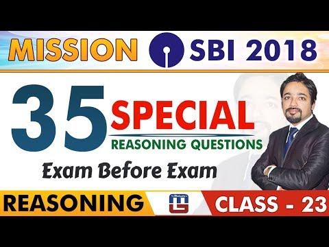 SBI Clerk Pre 2018 | 35 Special Reasoning Questions | Reasoning | Class - 23