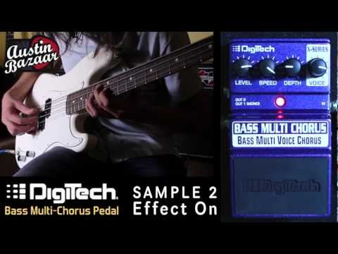 Digitech X-Series XBC BASS Multi Chorus Pedal Demo