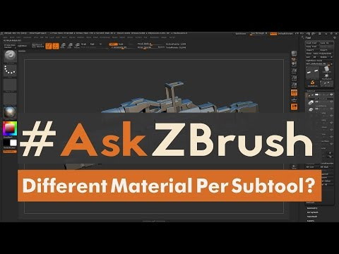 """#AskZBrush: """"How Can I Apply Different Materials To Individual Subtools?"""""""