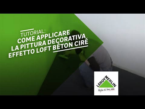 come applicare la pittura decorativa loft b ton cir leroy merlin youtube. Black Bedroom Furniture Sets. Home Design Ideas