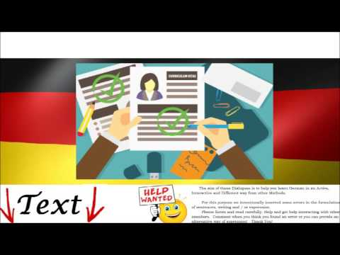Job Interview  in German Language. Dialogue for Intermediate