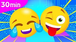 A Fun EMOJI Song |  Bouncing Balls | Fun Kids Songs Compilation by Little Angel