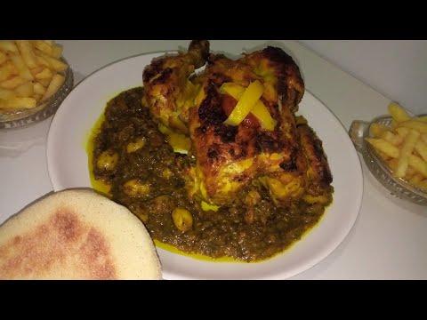 poulet-aux-olives-à-la-marocaine,-facile-et-rapide!-une-sauce-trop-bonne!