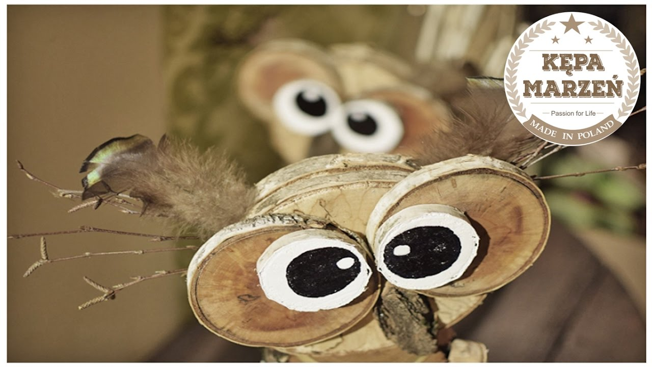 Szalone Sowy Z Drewna Zrób To Sam Crazy Owls From Wood Diy