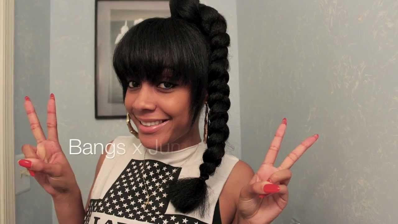 jumbo braid tutorial - youtube