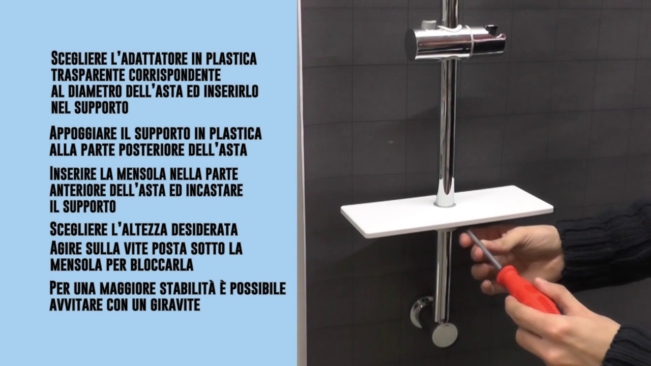 Organizza il tuo bagno con la mensola per asta doccia youtube