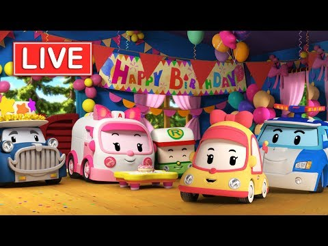 LIVE 🔴 Robocar Poli season 3,4 | Kids animation