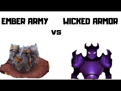 Wicked Armor Vs Ember Army | CAstle CLash