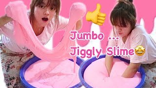MANTUL ! ANENOY ;D JUMBO JIGGLY SLIME TUTORIAL - BEST SLIME TUTORIAL RECOMENDED INDONESIA SUB