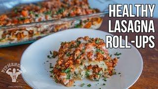 Healthy Lasagna Rollups / Rollos De Lasaña