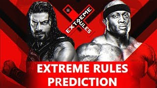 WWE Extreme Rules 2018 - Match Card Predictions