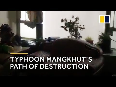 Typhoon Mangkhut\'s path of destruction in Hong Kong
