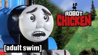 Thomas the Tank Engine gets hijacked | Robot Chicken | Adult Swim thumbnail