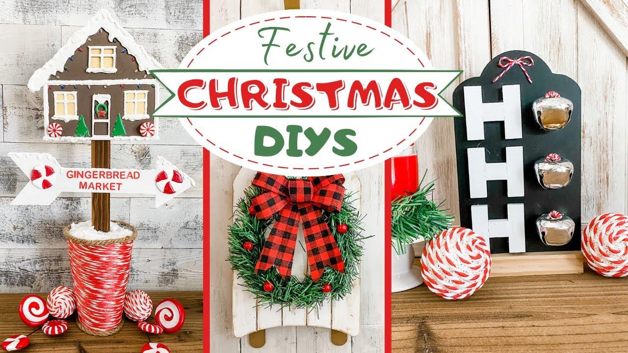 🎄 $1 CHRISTMAS DIYS 🎄  Easy DOLLAR TREE DIY Christmas Decor 🎄 Painting with GLUE STICKS