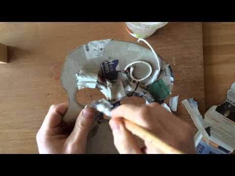 Creating paper mâché