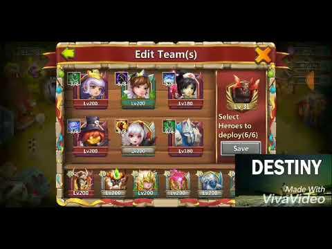 Castle Clash- Boss 5 Full Hit 640million!! Easy Slowdown