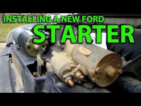 How To Install a Starter on a Ford E150 Triton 5.4l V8