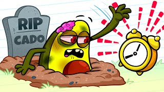Vegetables Have a Really Bad Day | Funny Cartoon by Avocado Couple