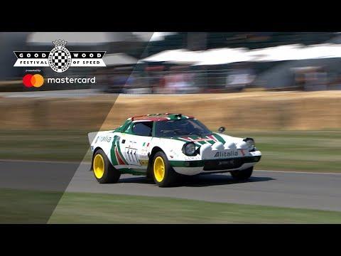 Stunning Lancia Stratos Hurled Up Goodwood Hill