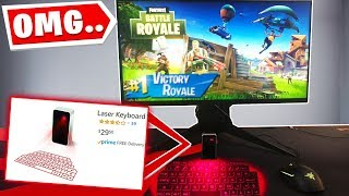 I TRIED TO WIN FORTNITE With A LASER KEYBOARD