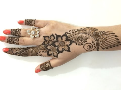 Thumbnail: Best Ornament Unique Arabic Henna Mehndi:Stylist Mehendi Designs For Hands(Step By MehndiArtistica)