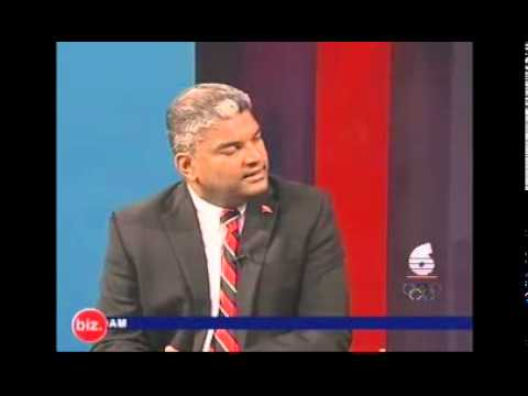 A.G live Interview with Dominic Kalipersad on TV6 and he breaks under pressure