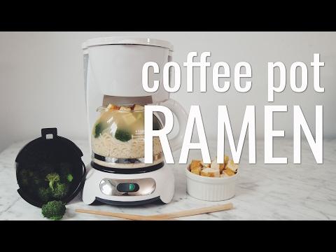 COFFEE POT RAMEN (VEGAN MACGYVER COLLAB)   hot for food