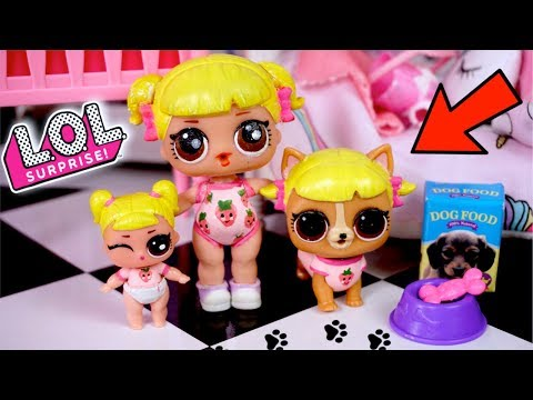 LOL Baby Goldie adopts her First Pet ! LOL Family Story