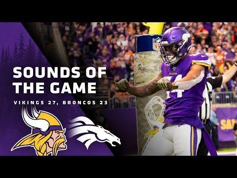 Sounds Of The Game: Minnesota Vikings 27, Denver Broncos 23