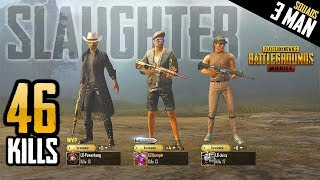 THREE MAN SQUAD WORLD RECORD - 46 KILLS - PUBG Mobile