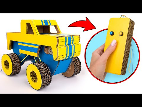 DIY Car From Cardboard With A Real Remote Control 🚕
