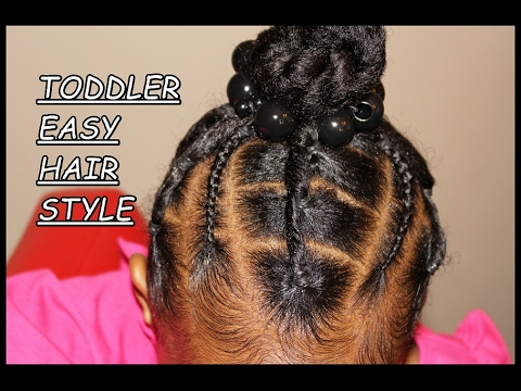 Piggy Back Natural Hairstyle: SIMPLE, EASY AND CUTE thumbnail