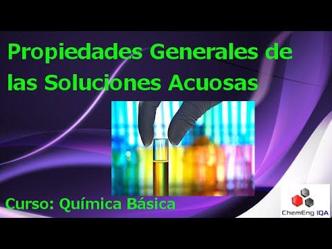 Propiedades generales de las disoluciones acuosas // QB54
