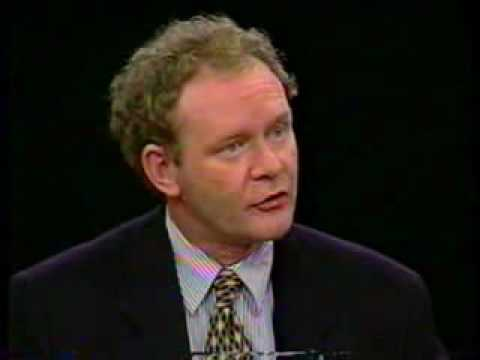 Martin McGuinness on Charlie Rose (USA) - 1995 part 1